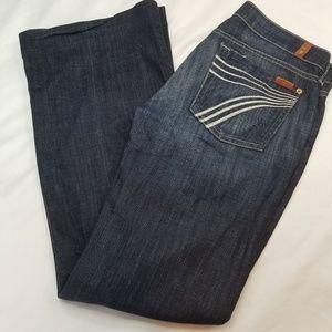 7 for all Mankind Dojo Flare Leg Jeans Womens 27